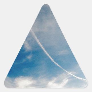 vliegtuig sleep driehoekvormige stickers