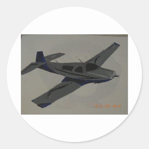 Vliegtuig Sticker