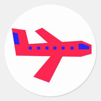 Vliegtuig Ronde Sticker