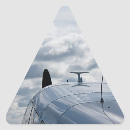 Vliegtuig Driehoekvormige Stickers