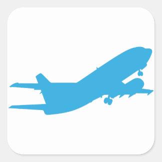 Vliegtuig Vierkante Stickers