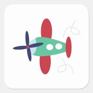 Vliegtuig Vierkant Stickers