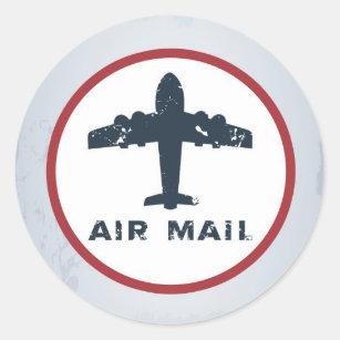 vliegtuig USPS van de Post van de Lucht van de Ronde Sticker