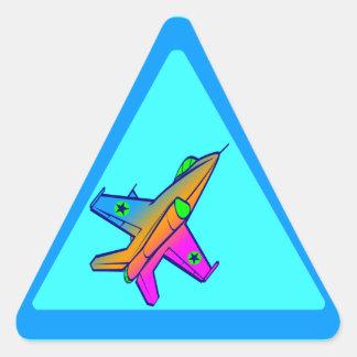 Vliegtuig van de Vechter van de jaren '80 van de Driehoekvormige Stickers