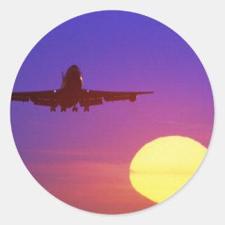 vliegtuig zon sticker