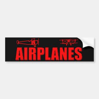 vliegtuigen bumpersticker