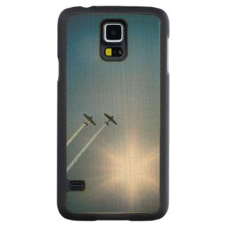 Vliegtuigen die op Blauwe Hemel met Zon vliegen Esdoorn Galaxy S5 Slim Case