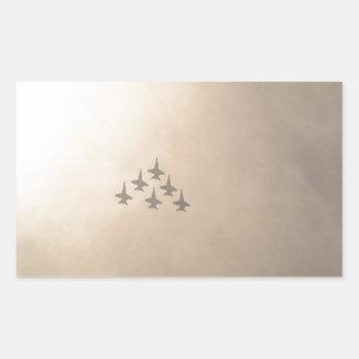 Vliegtuigen Rechthoekige Sticker