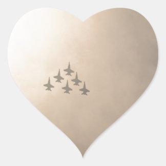 Vliegtuigen Hart Sticker