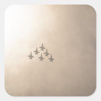 Vliegtuigen Vierkante Stickers