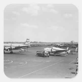 Vliegtuigen Vierkante Sticker