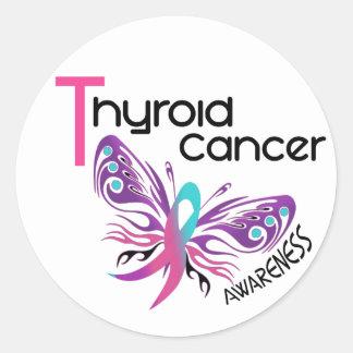 VLINDER 3.1 van Kanker van de schildklier Ronde Sticker