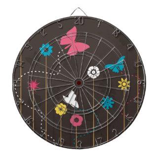 Vlinder en een flower3 dartbord