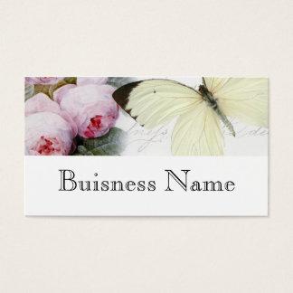 Vlinder en rozen visitekaartjes