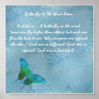 Vlinder in de Wind Poster