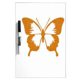 Vlinder in Gouden Metaal Dry Erase Whiteboards