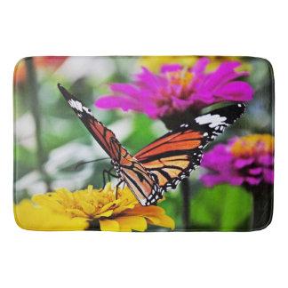 Vlinder op Bloemen #2 Badmat