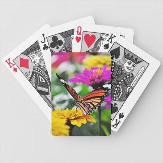 Vlinder op Bloemen #2 Poker Kaarten