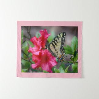 Vlinder op Bloemen Wandkleed