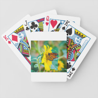 Vlinder op een Zonnebloem Bicycle Speelkaarten