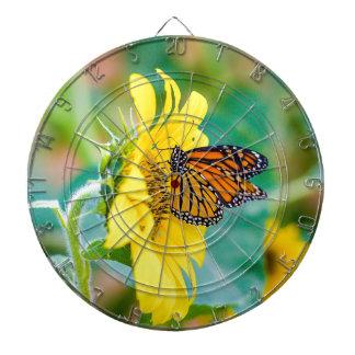 Vlinder op een Zonnebloem Dartbord