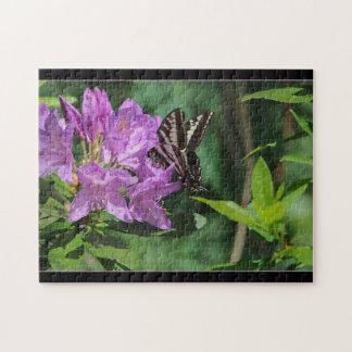 Vlinder op Rododendron - Raadsel Puzzel