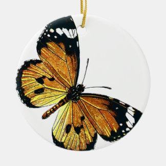Vlinder Rond Keramisch Ornament