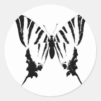 Vlinder Ronde Sticker