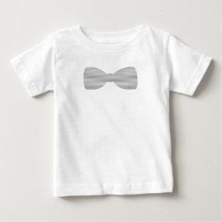 Vlinderdas - grijs en witte stroken - baby t shirts