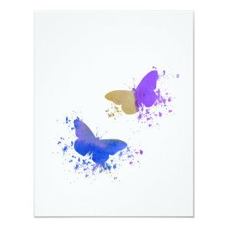 Vlinders 10,8x13,9 Uitnodiging Kaart