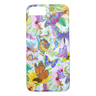 Vlinders en Bloemen iPhone 8/7 Hoesje