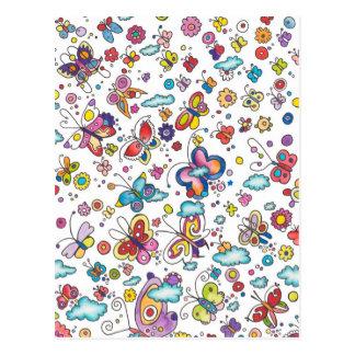 Vlinders in de Wolken Briefkaart