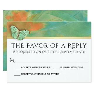 Vlinders op het Huwelijk RSVP van de Kleuren van 8,9x12,7 Uitnodiging Kaart
