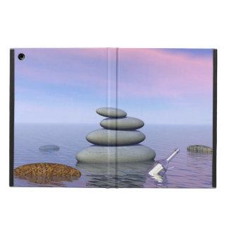 Vlinders tijdens de vlucht in een landschap Zen iPad Air Hoesje