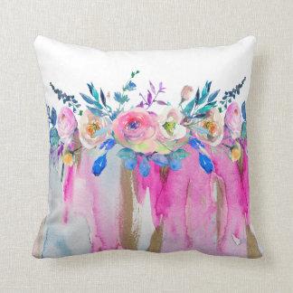 Vloeibare Kleuren & het Kleurrijke BloemenBoeket Sierkussen
