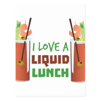 Vloeibare Lunch Briefkaart