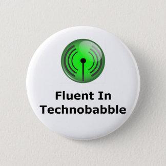 Vloeiend in Technobabble Ronde Button 5,7 Cm