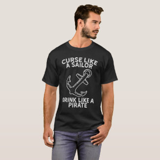 Vloek zoals een Drank van de Zeeman zoals een T Shirt