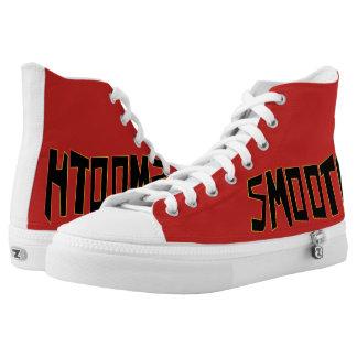 Vlotte Stijl - Rode Tennisschoen High Top Schoenen
