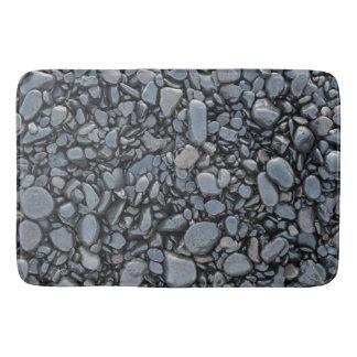 Vlotte Zwarte Glanzende Stenen Badmat