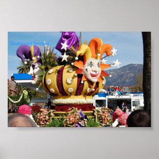 Vlotter van de clown nam Parade Pasadena, Poster