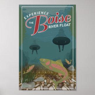 Vlotter | van de Rivier van Boise de Druk van het Poster