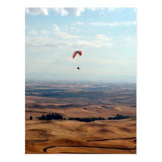 Vlucht over Palouse Briefkaart
