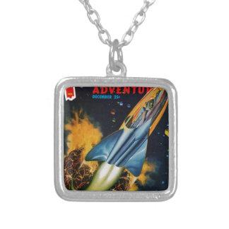 Vlucht van de Exploderende Planeet Zilver Vergulden Ketting