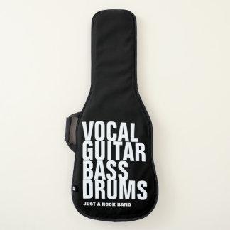 vocaal, gitaar, baarzen, trommels… rots gitaartas