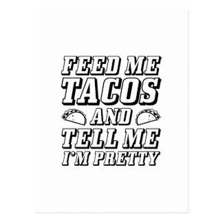 Voed me Taco's Briefkaart