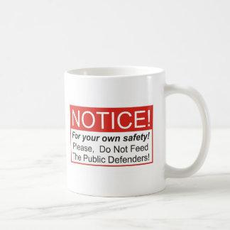 Voed niet de Advocaat pro deo Koffiemok