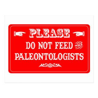 Voed niet de Paleontologen Wens Kaarten