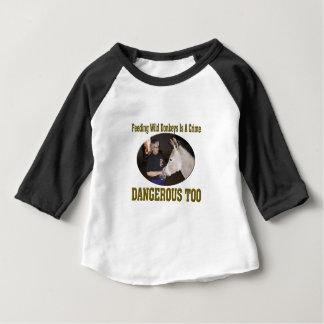 Voed niet de Wilde Ezel Baby T Shirts