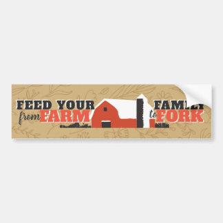 Voed Uw Familie van Boerderij aan de Sticker van